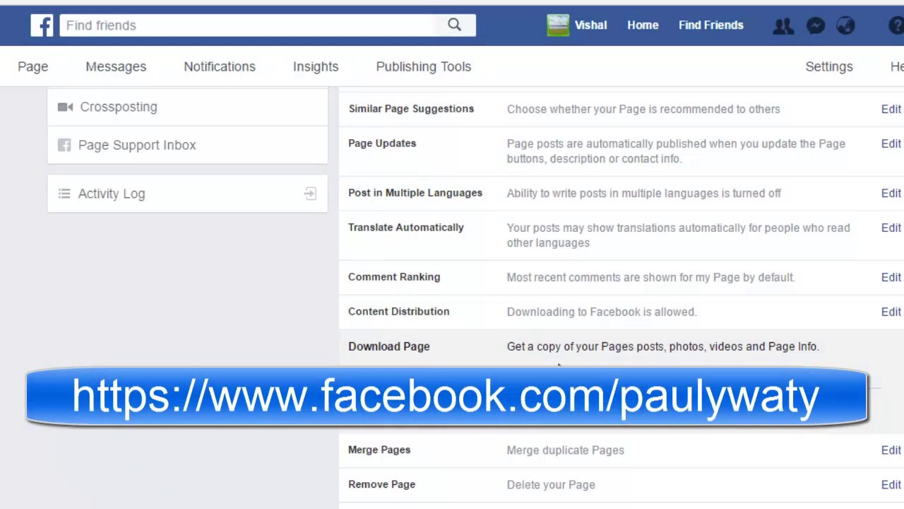 How to download a copy of business page in facebook | Download any Facebook  Page data