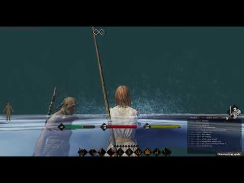 @LifeisFeudal #MMO -- Horizon fighting off Chooki Cunt and his Chinese Pirate Trolls