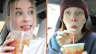 WE TRIED THE CHARLI DRINK FROM DUNKIN!! (honest review)