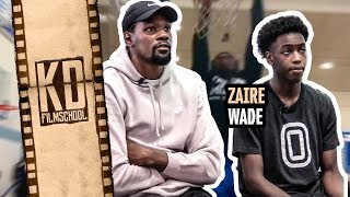 Kevin Durant Gives Zaire Wade The SECRETS!