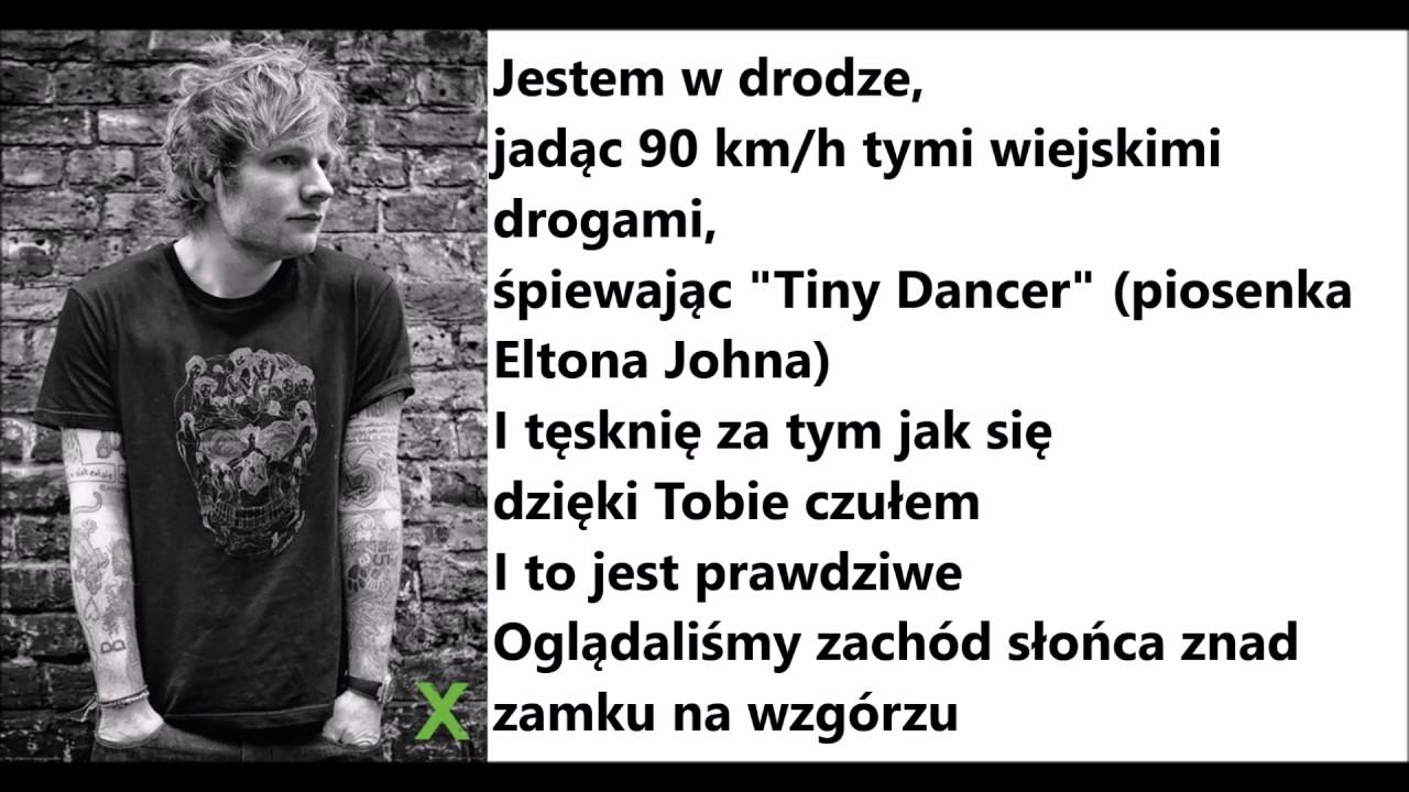 Download Ed Sheeran Castle on the Hill TŁUMACZENIE PL
