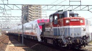 JR貨物 台湾鉄路局 TEMU2000形(プユマ号) 甲種(9775レ DE10-1581 甲20)大高
