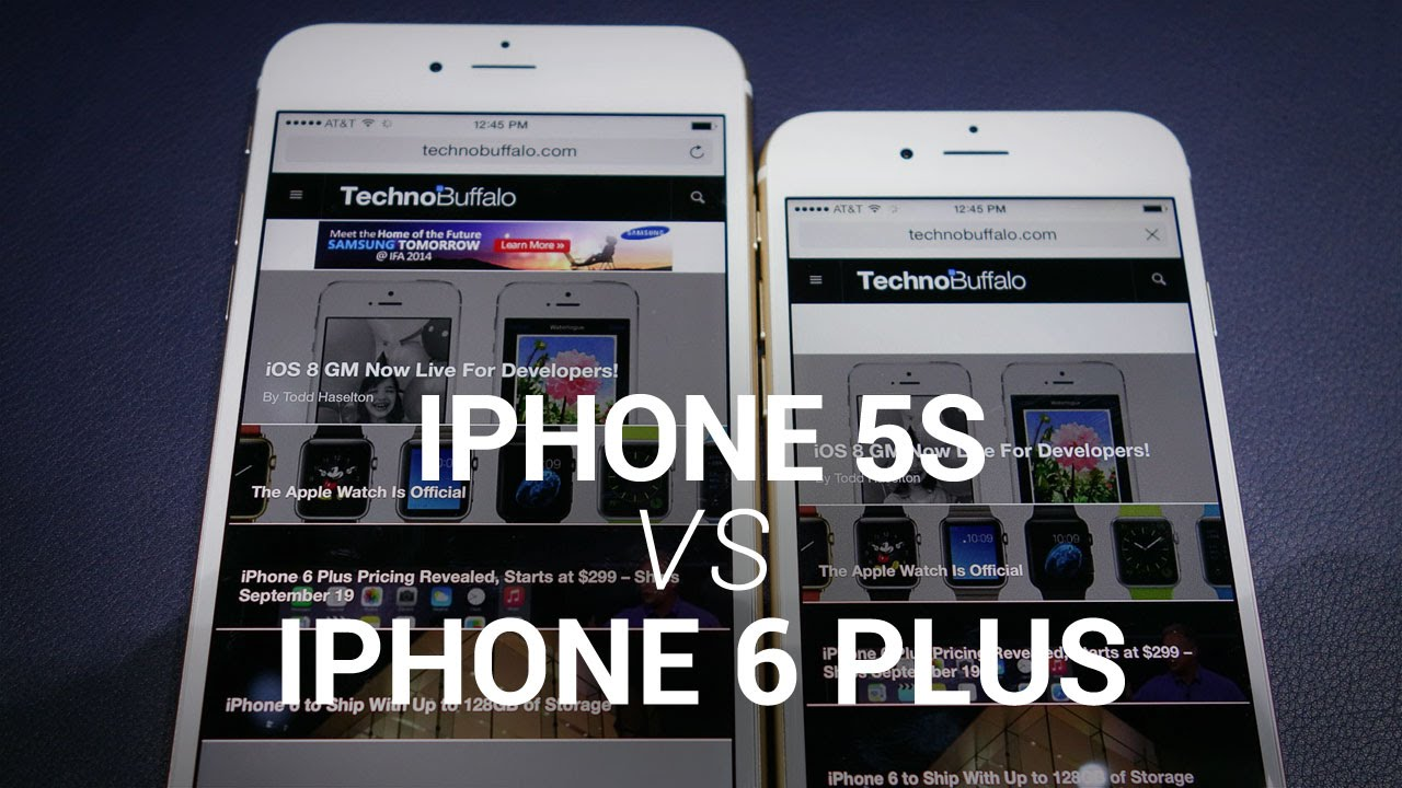 iPhone 6 Plus vs. iPhone 5s Show Floor Comparison - YouTube