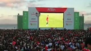 Ronaldo's freekick //reactions from a whole stadium ||Portugal Vs Spain|| 3-3