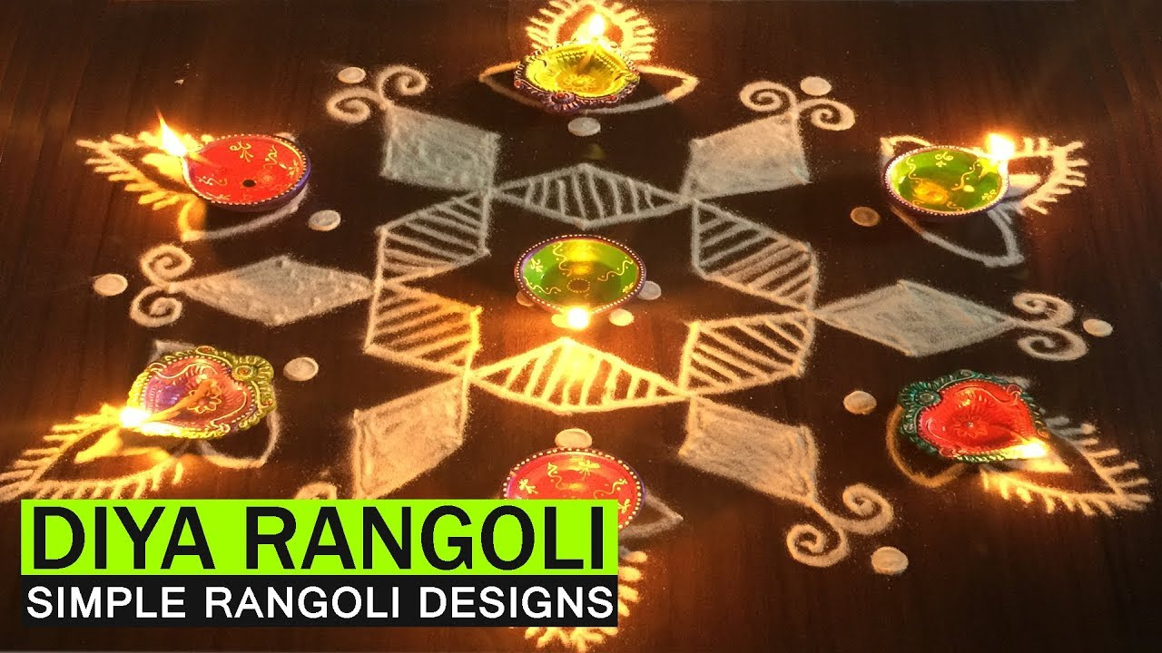 KARTHIGAI DEEPAM RANGOLI WITH 7 TO 4 DOTS | EASY DIYA KOLAM ... for Karthigai Deepam Kolam  165jwn