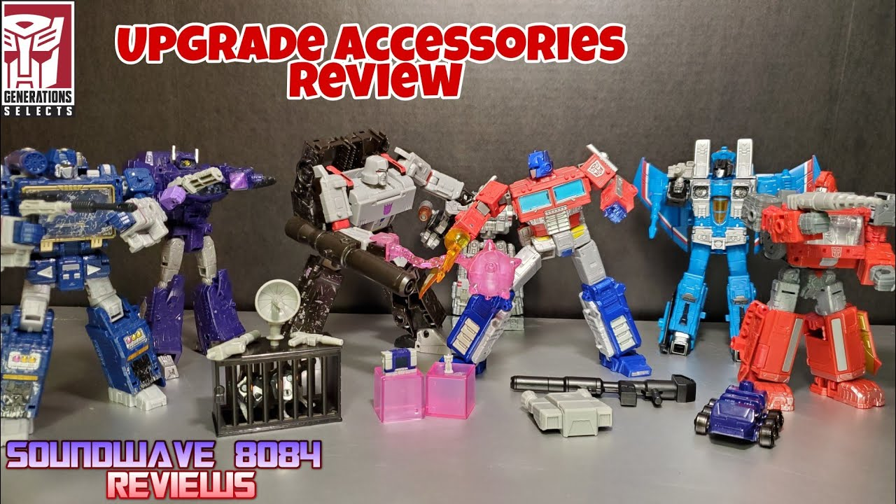 Transformers Generations Selects Upgrade Accessories Review by Soundwave 8084