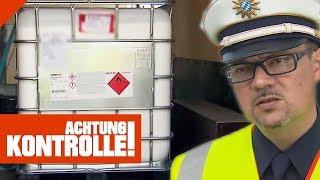 825kg Klebstoff an Bord! Polizei bemängelt Ladungssicherung! | Achtung Kontrolle | Kabel Eins