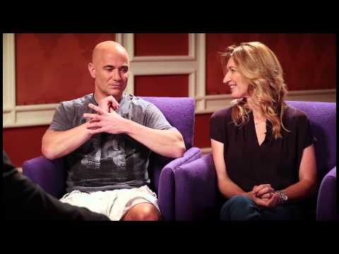 Andre Agassi And Steffi Graf Discuss Their Charitable Work