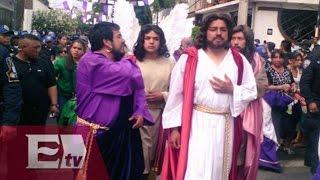Inicia representación de la Pasión de Cristo en Iztapalapa / Vianey Esquinca