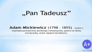 Lektury: Pan Tadeusz