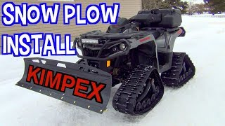 ATV Snow Plow Install - Kimpex Click n Go 2 On Can Am Outlander 1000<