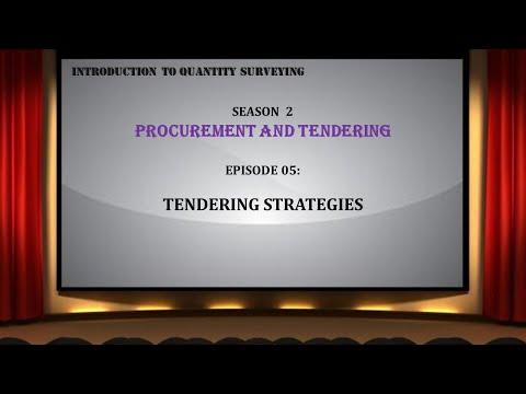S02E05 Tendering Strategies