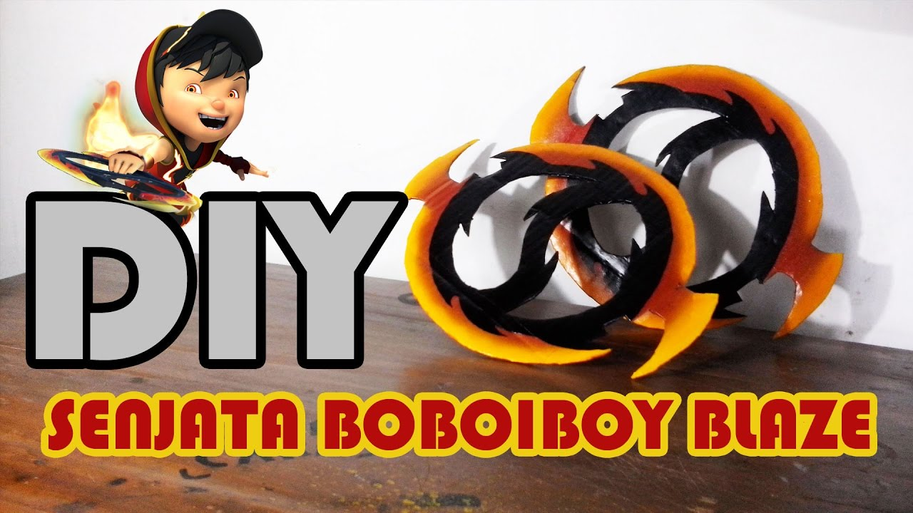 Cara Membuat Senjata Boboiboy Blaze Diy Youtube