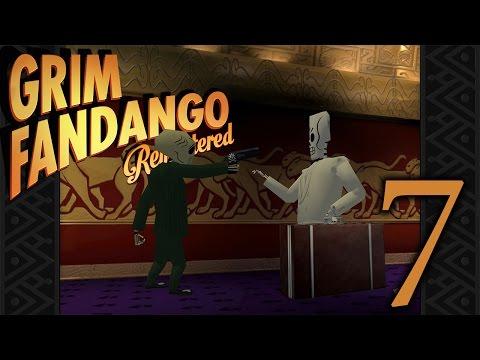 Getting the Union Card, VIP Pass, Blue Casket - Grim Fandango Remastered -  Part 7 - (Lets Play)