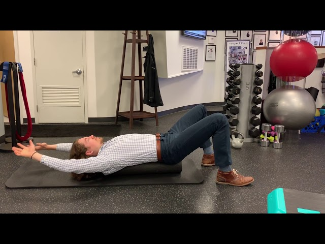 Overhead Reach and Pull on a Foam Roller