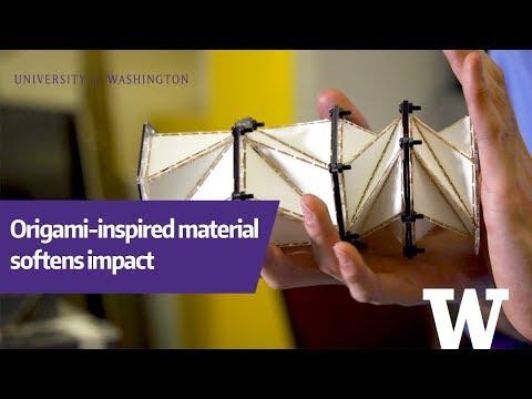 นักวิจัยออกแบบวัสดุลดแรงกระแทกด้วยเทคนิคโอริกามิ
