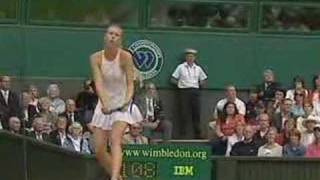 Maria Sharapova Slow Motion Service Action