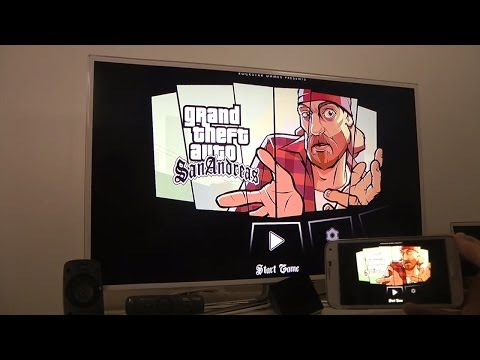 GTA San Andreas Samsung Galaxy S5 SMART TV HD Gameplay Test