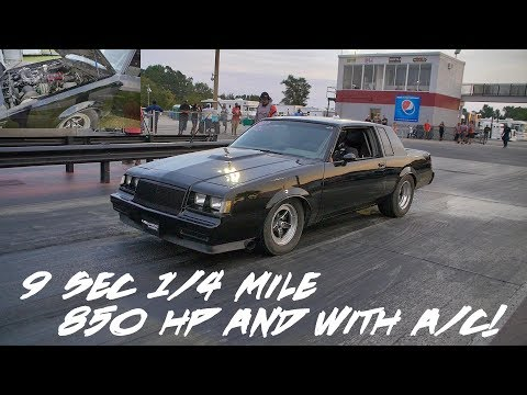 HE'S GETTING READY FOR DRAG WEEK!! 850 HP GRAND NATIONAL LAYS 9s IN THE QUARTER!