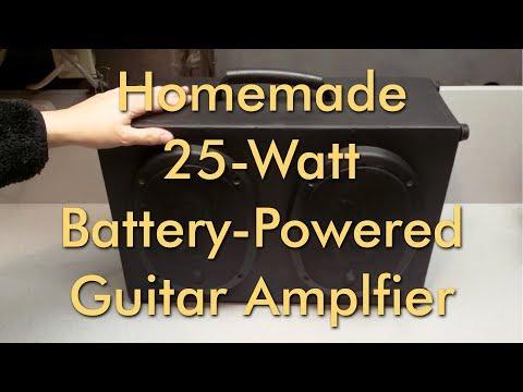 Homemade 50 Watt Battery-Powered Guitar Amplifier - BrendaEM