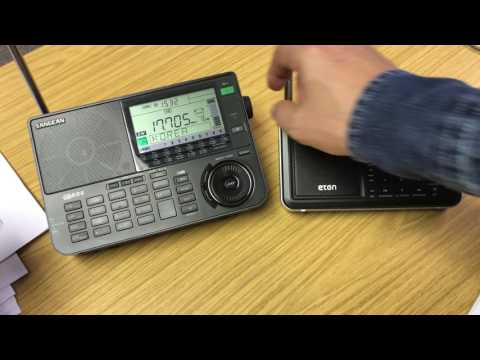 Sangean ATS-909x vs Eton Satellit: sensitivity on the whip, Radio Saudi 17705 kHz