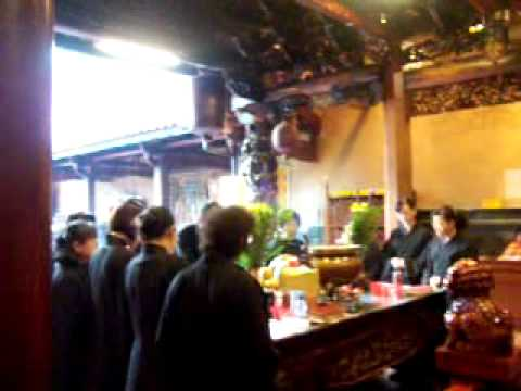 ceremony in Matzu temple in Nantun Taichung city Taiwan (ghost month)
