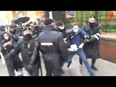 В Москве полицией задержано более 30 человек на акции протеста