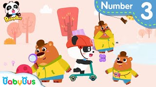 Baby Panda Plays with Little Bear | Number Counting Song,Color Song | Learning Video | BabyBus