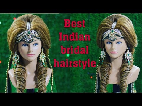 Best Indian Bridal Hairstyle Mang Tikka Setting In Front