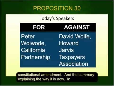 Voter Education Forum: California Ballot Initiatives