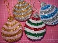Vintage style ornament tutorial, beaded , sequined, handmade to look vintage