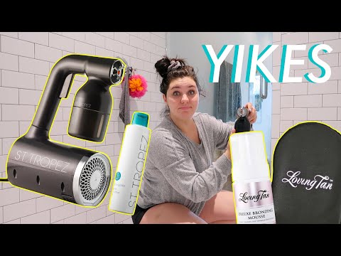 Testing The St. Tropez Pro Light // In-Home Spray Tan