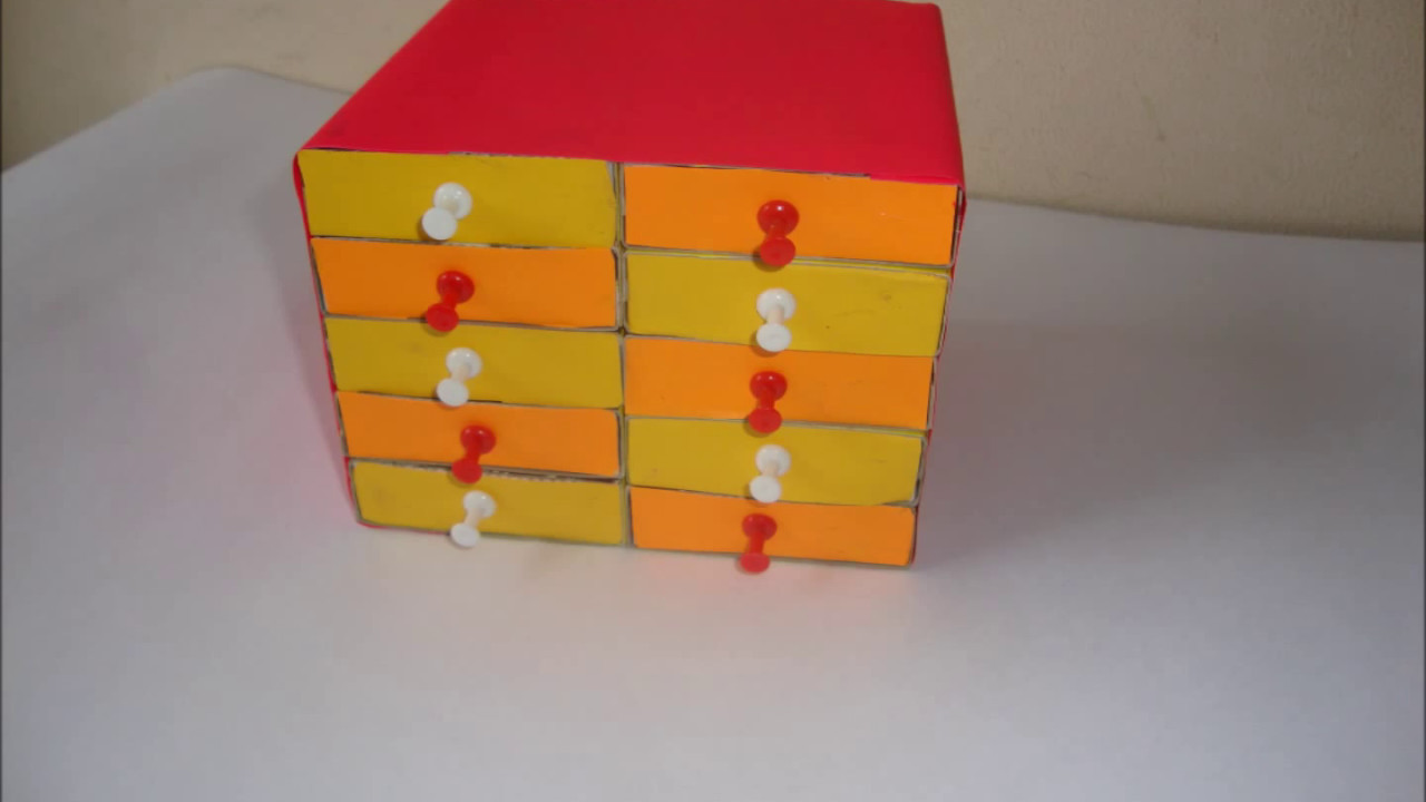 arts and crafts box ideas diy matchsticks box craft matchbox easy drawers crafts 5886