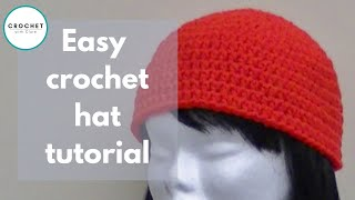 Repeat youtube video Crochet a Basic Beanie Tutorial - Half Double Crochet - Preemie to Adult size