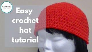crochet a basic beanie tutorial half double crochet preemie to adult size