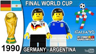 World Cup Final 1990 West Germany vs Argentina 1 0 in Lego Italia 90 All Goals Highlights Lego