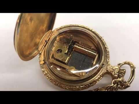 Swiss Made Vintage Reuge Musical pocket watch