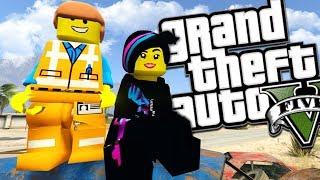 THE LEGO MOVIE 2 MOD w/ EMMET & LUCY (GTA 5 PC Mods Gameplay)