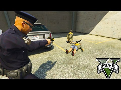 GTA 5 Mods - LETS BE A COP! SHES GOT A GUN! MURDER ON THE STREETS! (GTA 5 Mods)
