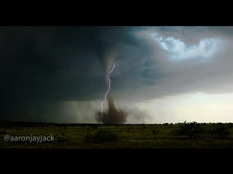 4K ANTICYCLONIC TORNADO First Ever In 4K  05-22-2016 Big Spring Texas