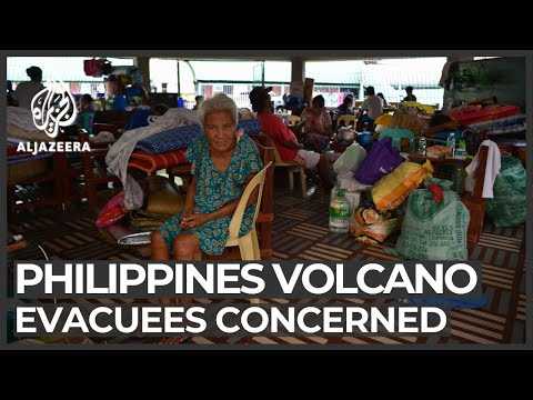 Philippines volcano: Evacuees concerned about long-term plans