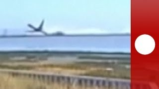 Unfall der Asiana Airline: Flugzeug-Crash in San Francisco - Video