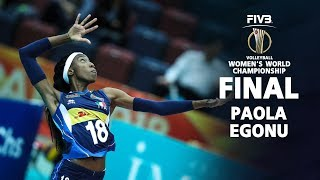 TOP 20 Powerful SPIKE by Paola Egonu l Italian Volleyball World Championship 2018 (FINALS)