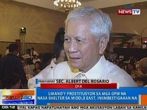 NTG: Panayam kay DFA Sec. Albert Del Rosario kaugnay sa isyu ng sex for flight