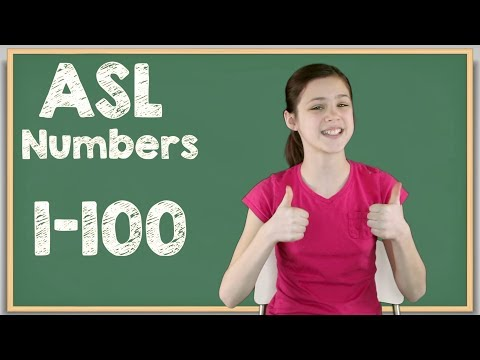 ASL Numbers 1-100 | Sign Language Numbers