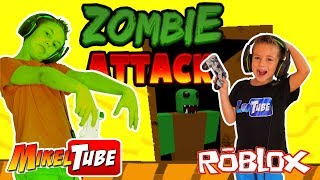 Intentamos Escapar de los Zombie Attack en ROBLOX