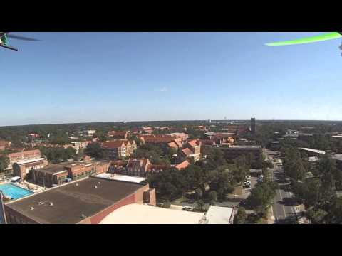UF campus quadcopter aerial