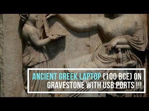 Ancient Greek Laptop With Usb Ports 100 Bce On Gravestone Youtube