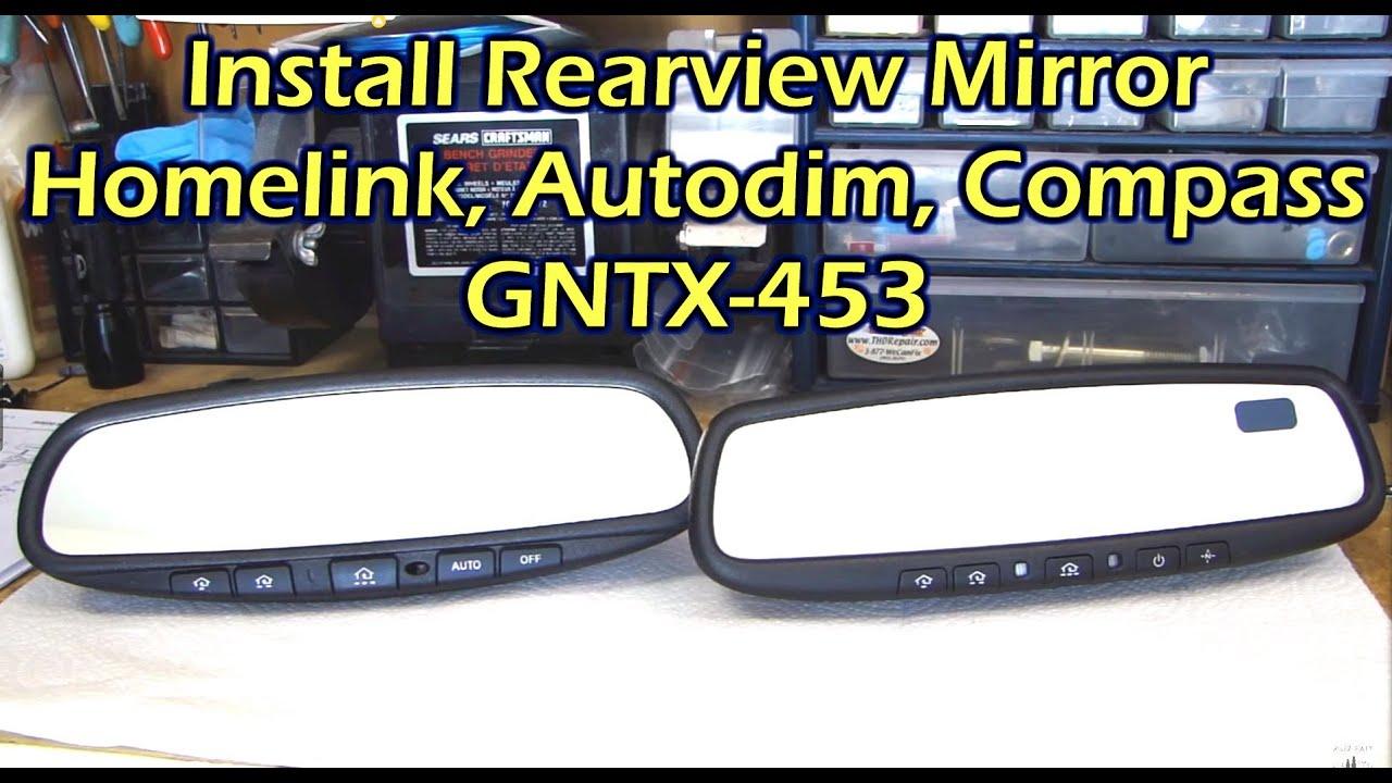 2004 Gmc Sierra Wiring Diagram John Deere 317 Skid Steer Install Rearview Mirror With Homelink / Autodim Compass For Nissan - Youtube