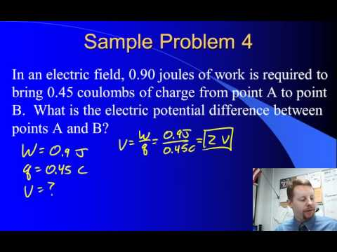 High School Physics - Electric Potential Difference